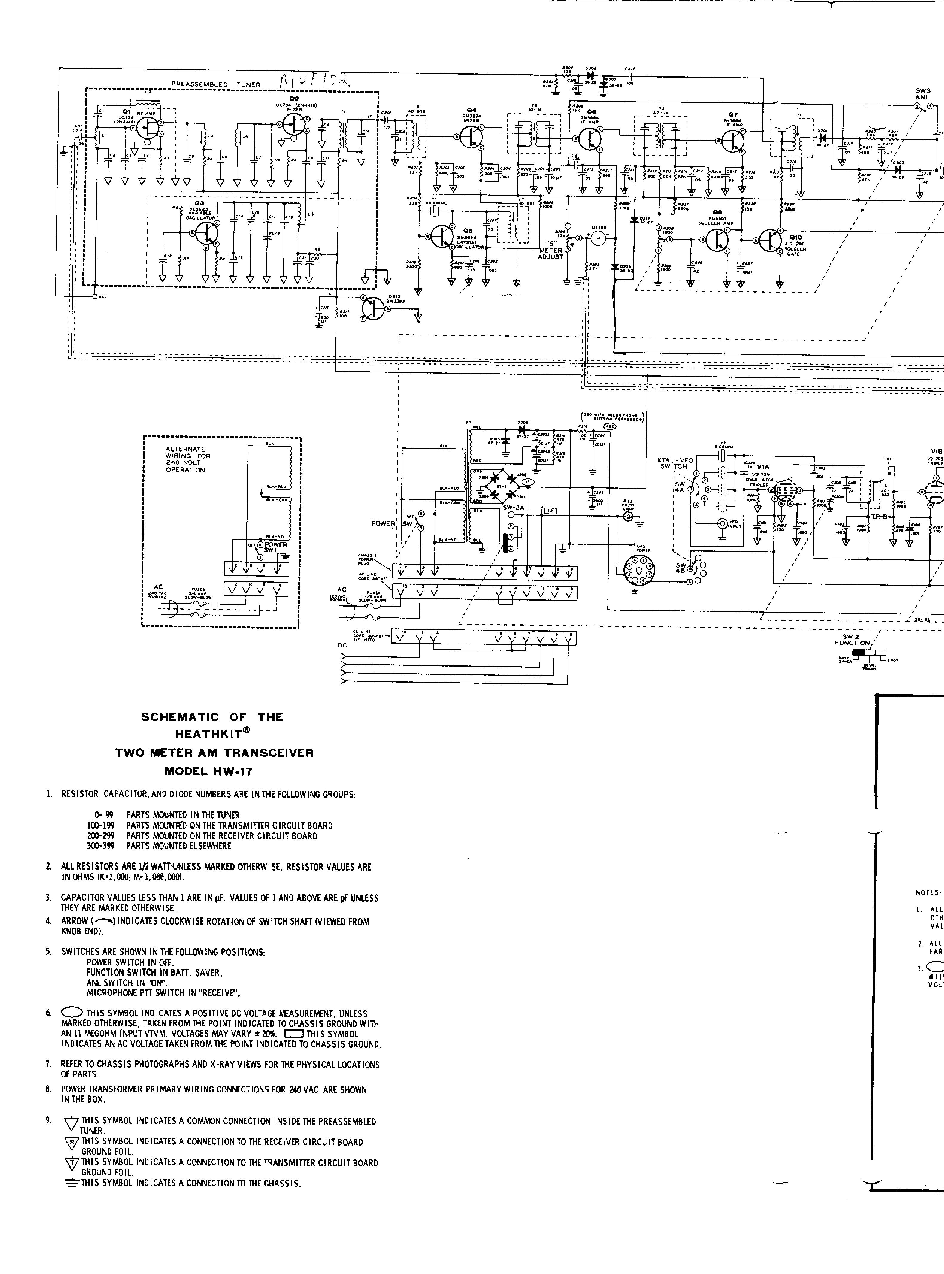 Heathkit Hw 17 Two Meter Am Transceiver Sch Service Manual Download