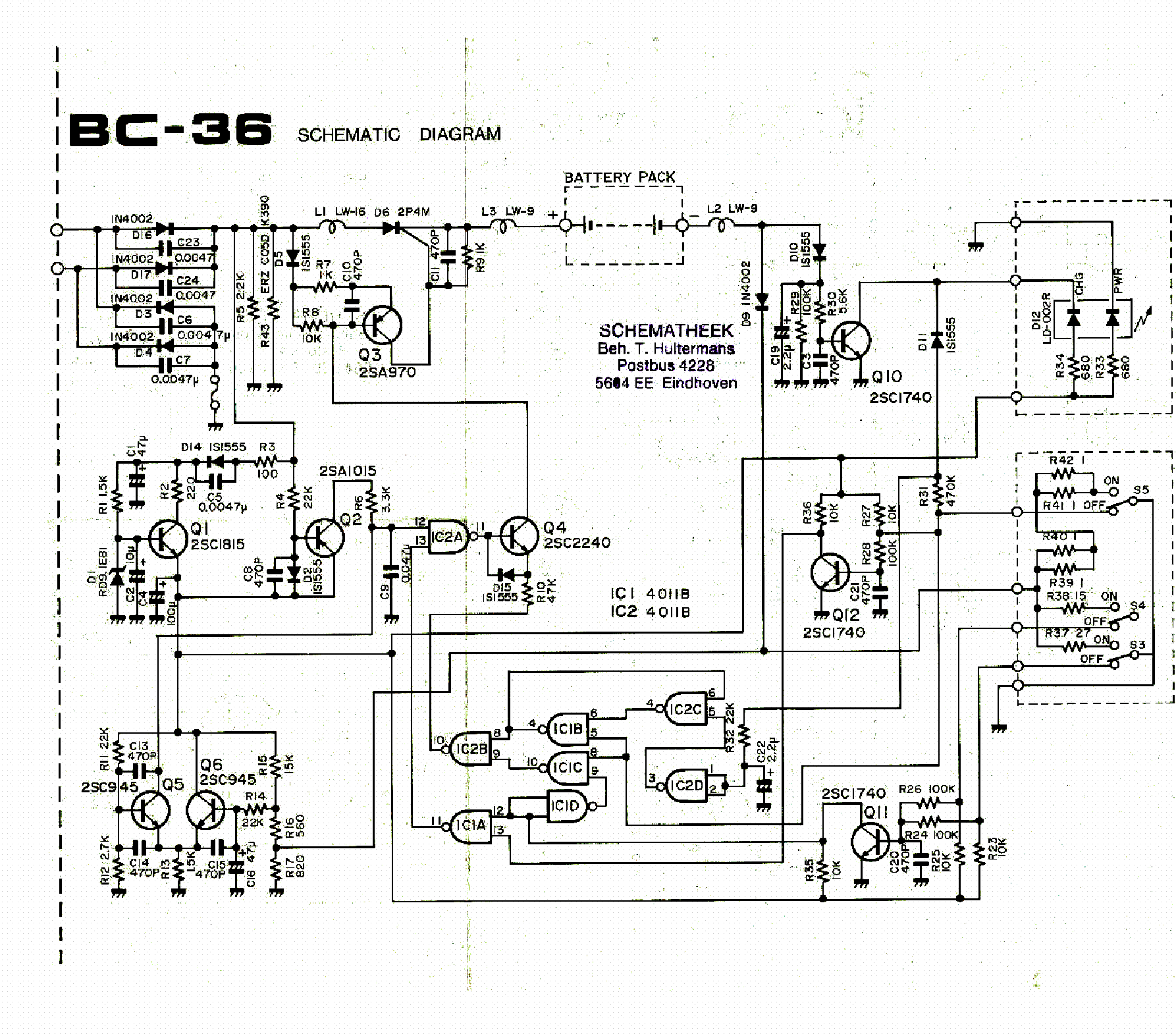 ICOM BC-36 service manual (1st page)