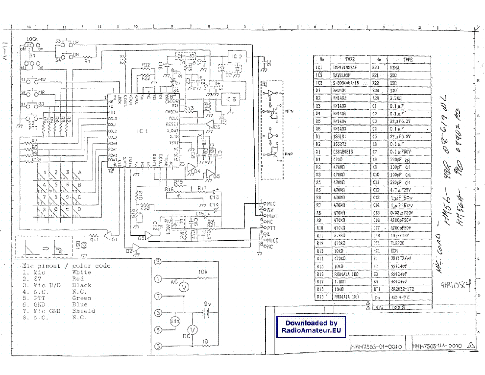 hm 103 microphone wiring diagrams microphone connector