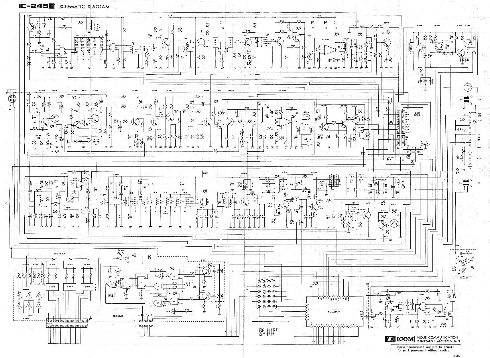 ICOM IC-245E SCH service manual (1st page)