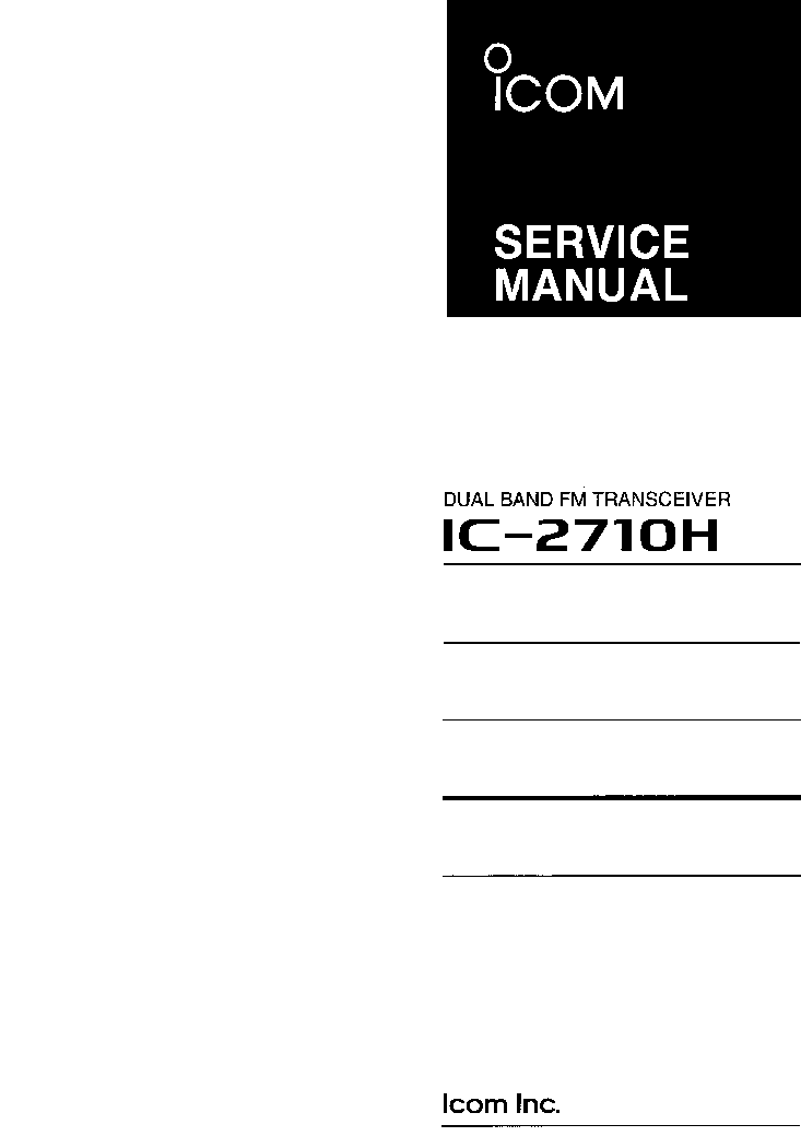 ICOM IC-2710H SERVICE MANUAL service manual (1st page)