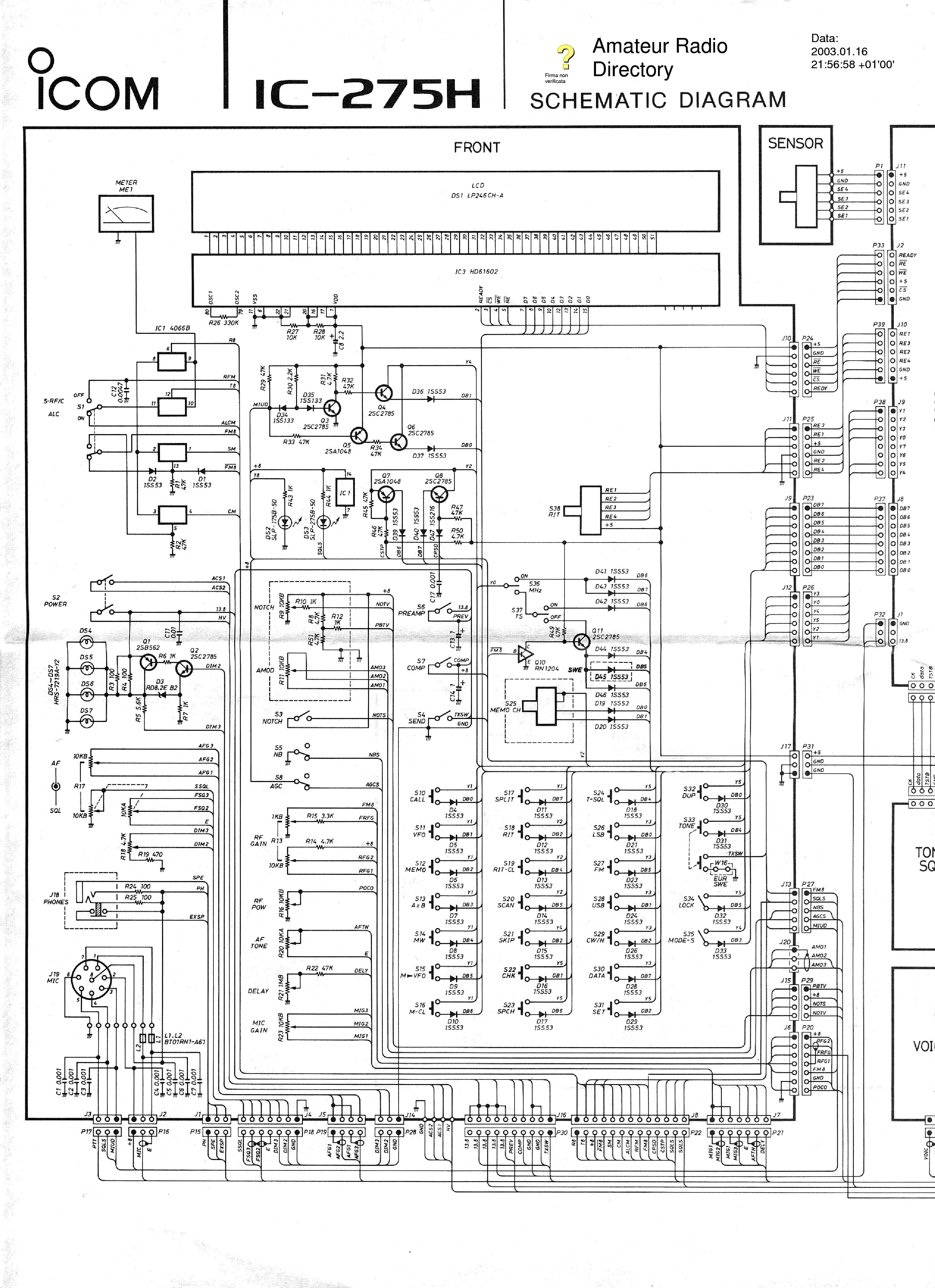 Icom ic 707 Service Manual