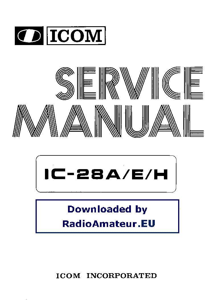 ICOM IC-28A, 28E, 28H SM 2 service manual