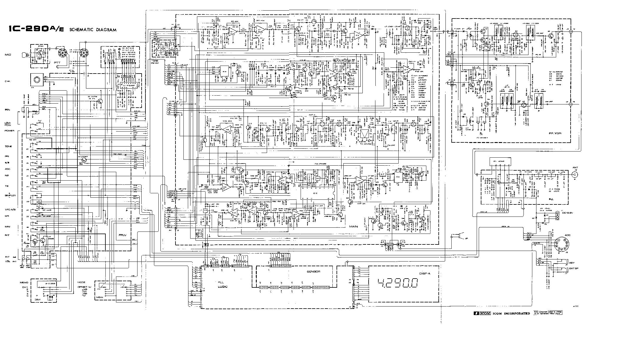 ICOM IC-290A, 290E, 290H SERVICE MANUAL ICOM ...