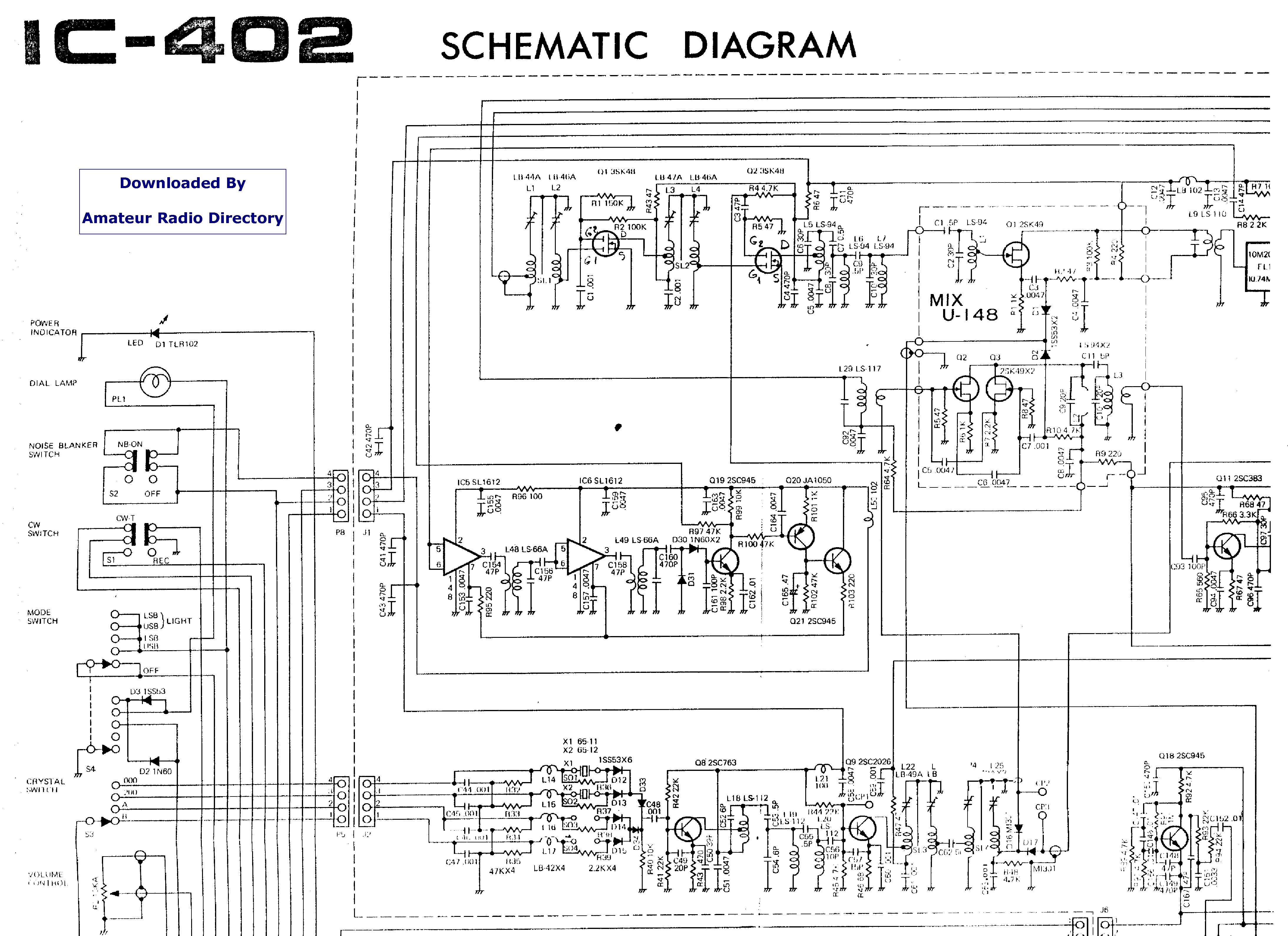 ICOM IC-402 service manual (1st page)