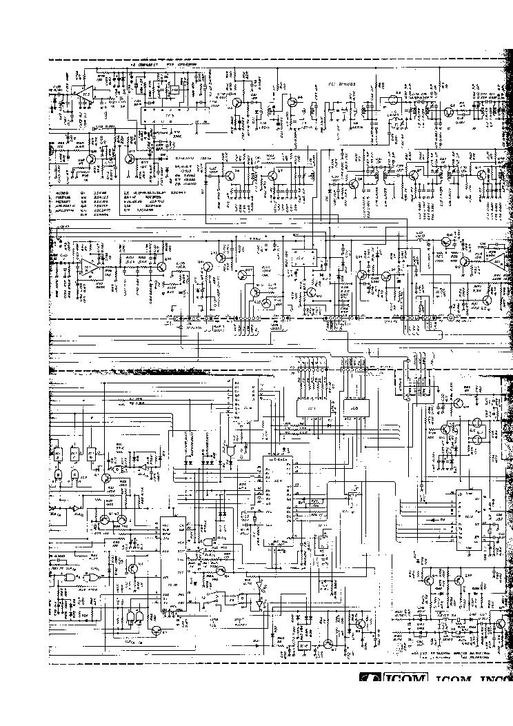 ICOM IC-45A E SM Service Manual download, schematics, eeprom ... on
