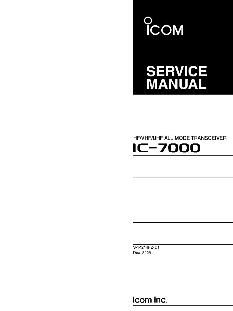 icom ic 7000 service manual service manual download schematics rh elektrotanya com icom ic-7100 service manual icom ic 7000 owner's manual