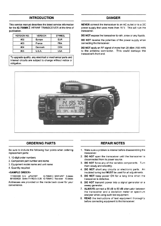 Icom Ic R8500 Service Repair Manual Download