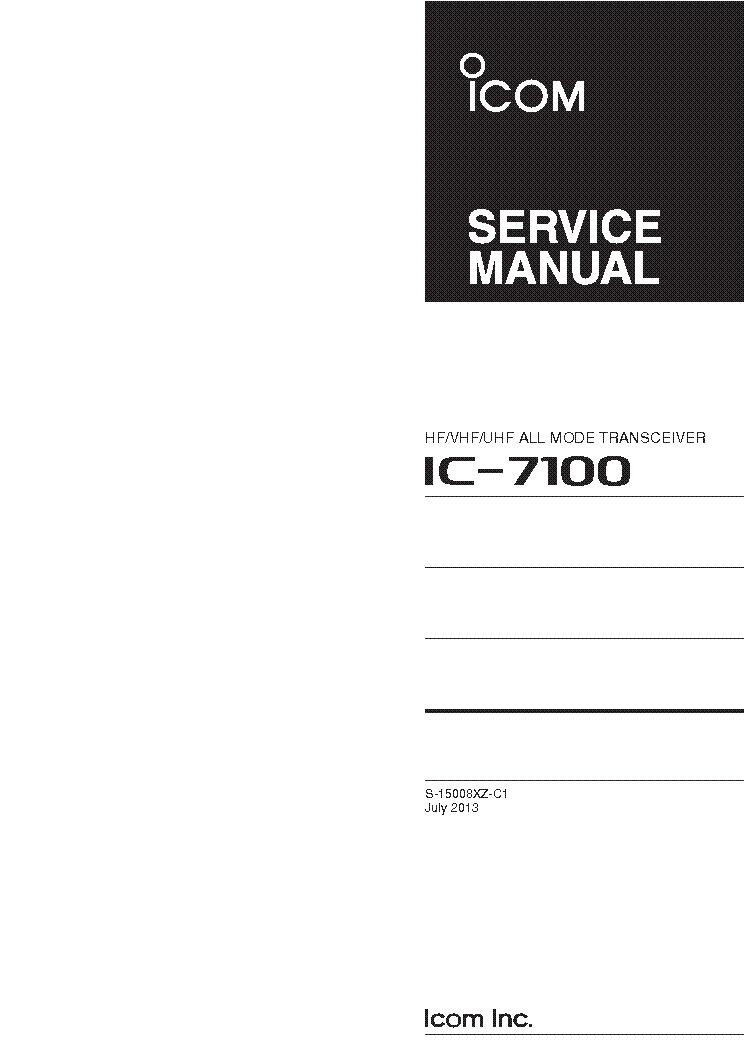 icom ic 7100 sm service manual download schematics eeprom repair rh elektrotanya com Icom IC-7100 Back icom ic-7000 service manual