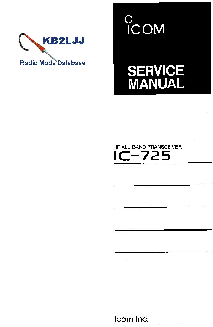icom ic 725 service manual service manual download schematics rh elektrotanya com Icom Manuals PDF Icom Ic-7300 Service Manual