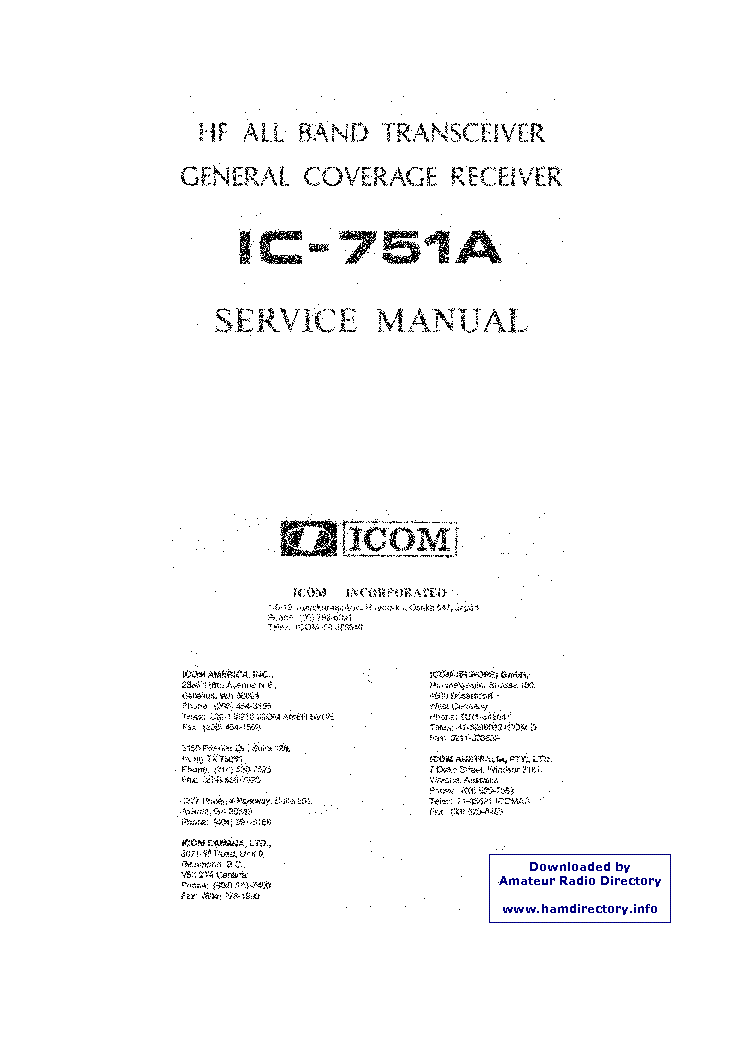 ICOM IC-751 service manual