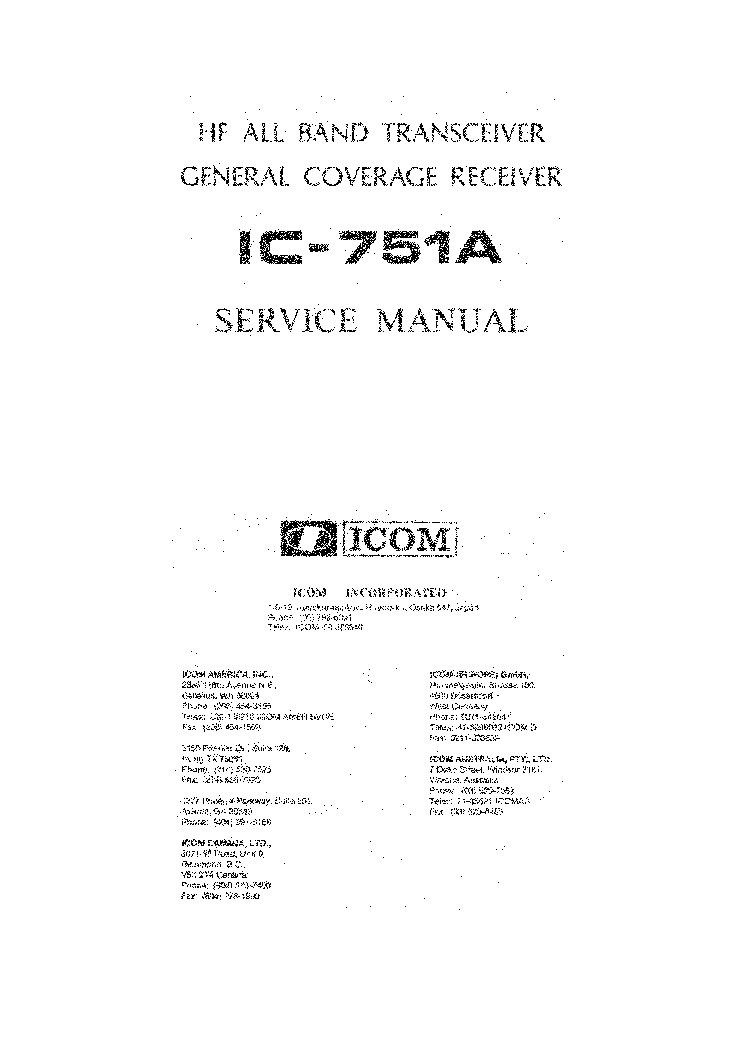 icom ic 751a service manual service manual download schematics rh elektrotanya com ic-751a user manual icom 751a user manual
