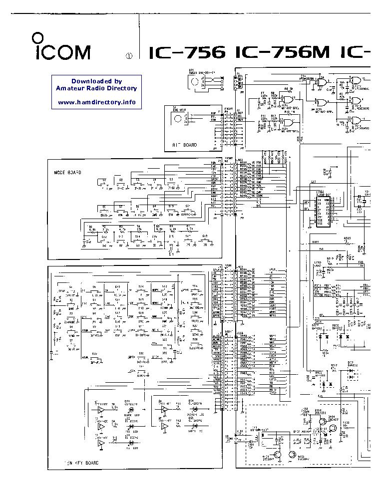 Icom ic M505 service manual
