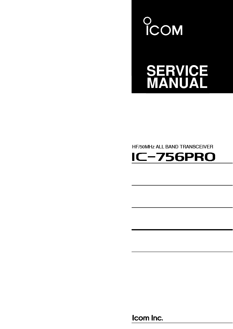 Icom ic-471a e sm service manual download, schematics, eeprom.