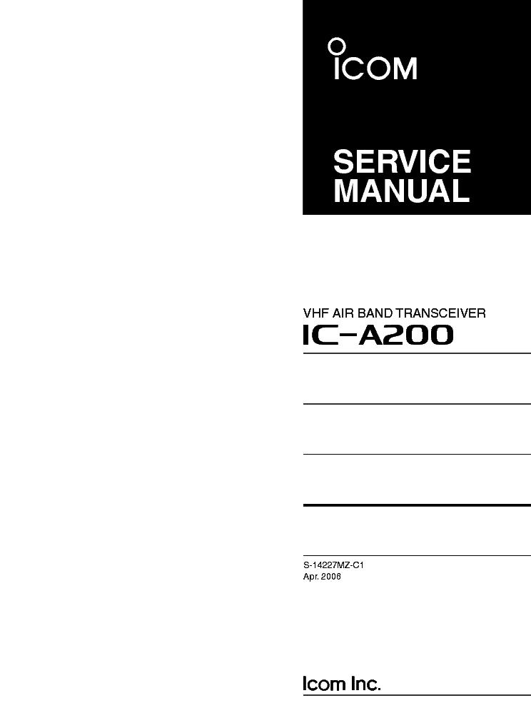 Icom Ic A200 Wiring Diagram - Wiring Diagram