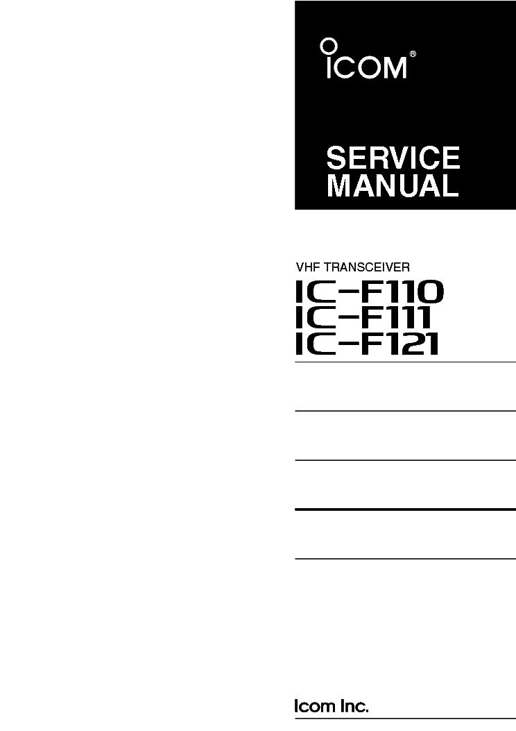 icom ic f110 service manual
