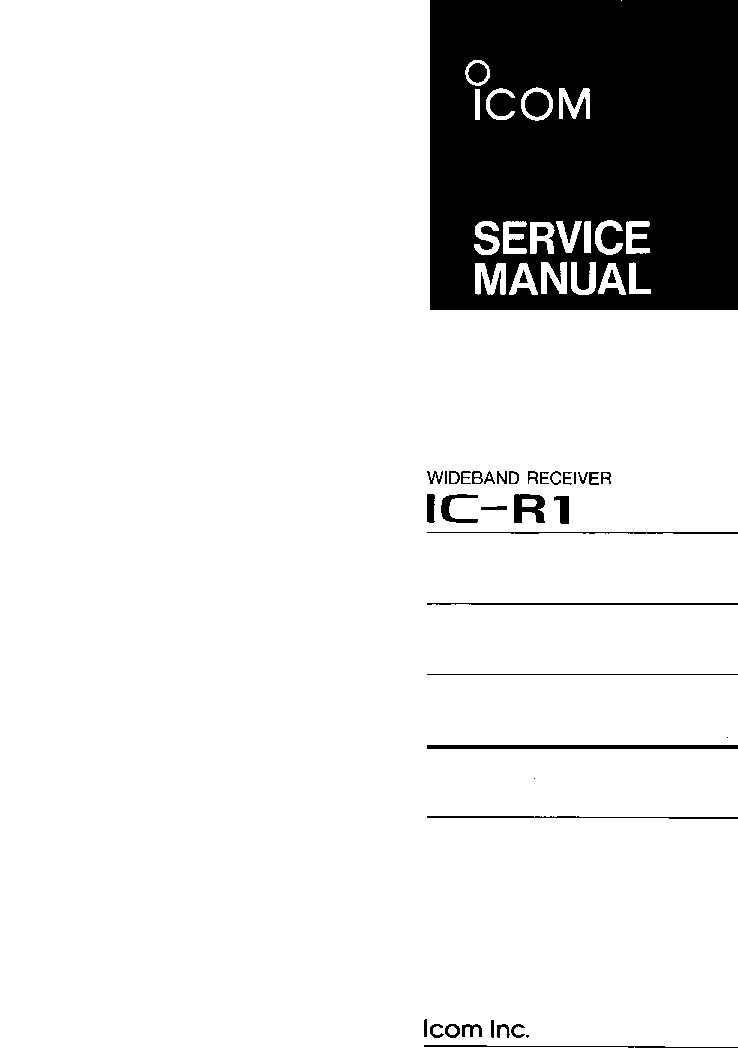 icom ic r1 service manual service manual download schematics rh elektrotanya com r1 service manual 2007 r1 service manual 2007
