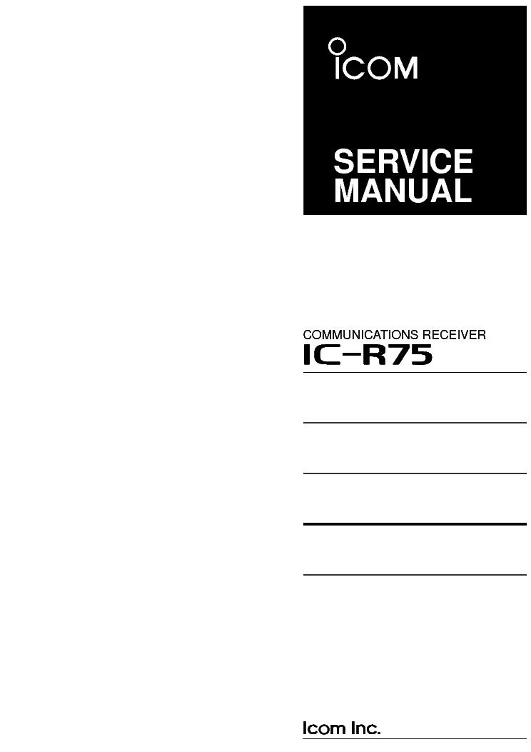 icom ic r75 service manual service manual download schematics rh elektrotanya com IC- 7800 icom ic-r75 service manual