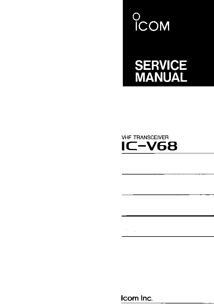 ICOM IC-V68 service manual