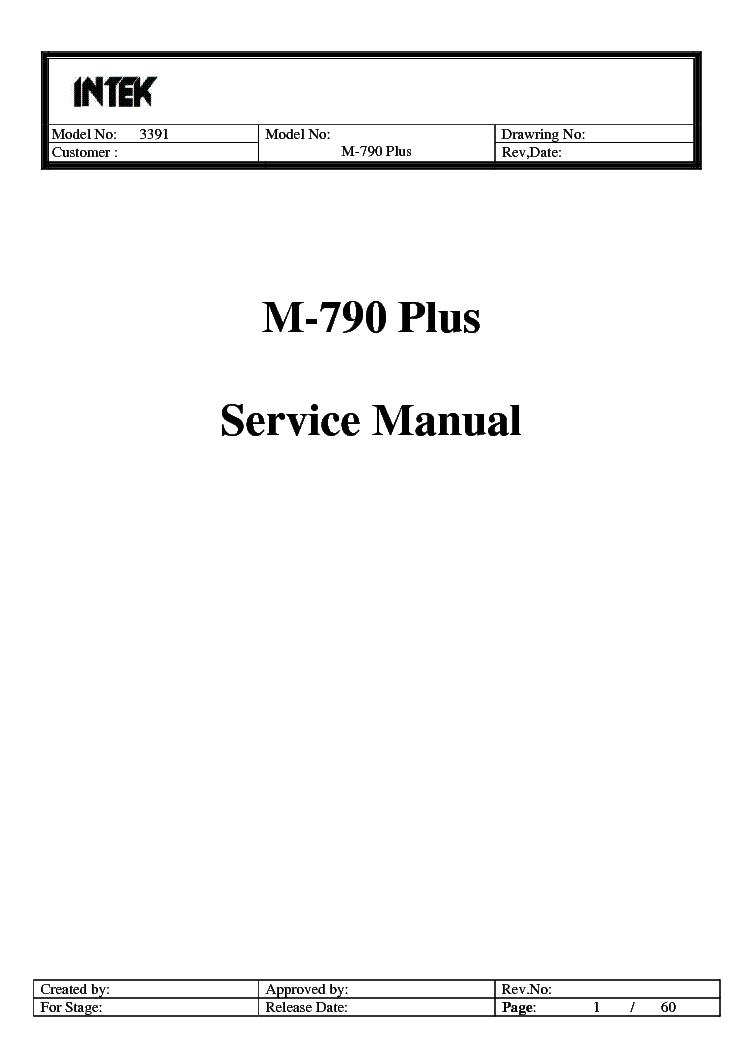 Intek M100 Sch Service Manual Download  Schematics  Eeprom