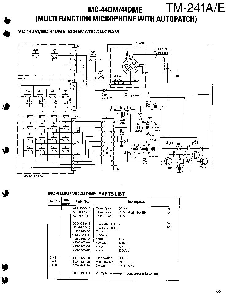 kenwood_mc 44dm_dme_sch.pdf_1 kenwood ts570 service manual download, schematics, eeprom, repair kenwood mc 50 wiring diagram at gsmx.co