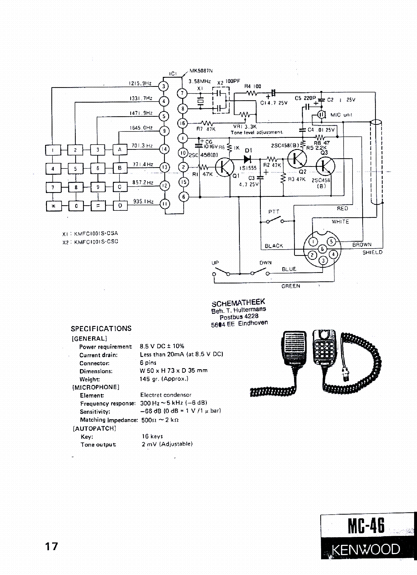 kenwood_mc-46_sch.pdf_1  Kenwood Microphone Wiring Diagram on