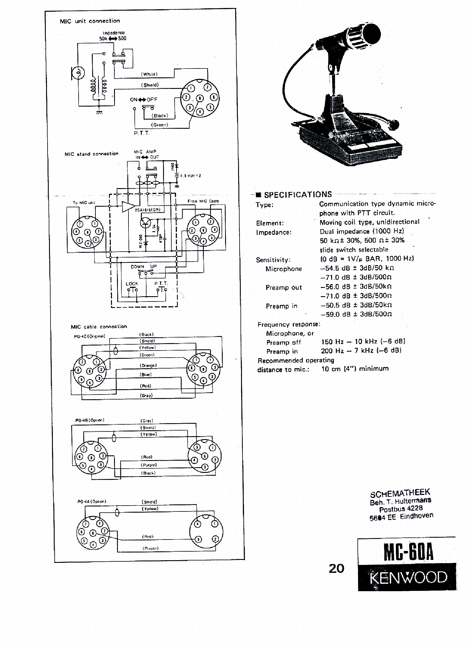 kenwood mc 60a wiring diagram kenwood mc 50 wiring diagram