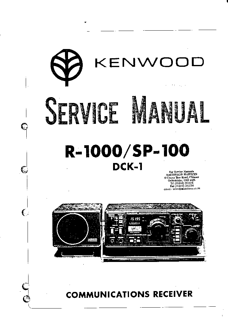 kenwood r 1000 service manual download schematics eeprom repair rh elektrotanya com kenwood r 1000 service manual Kenwood R 2000 Communications Receiver