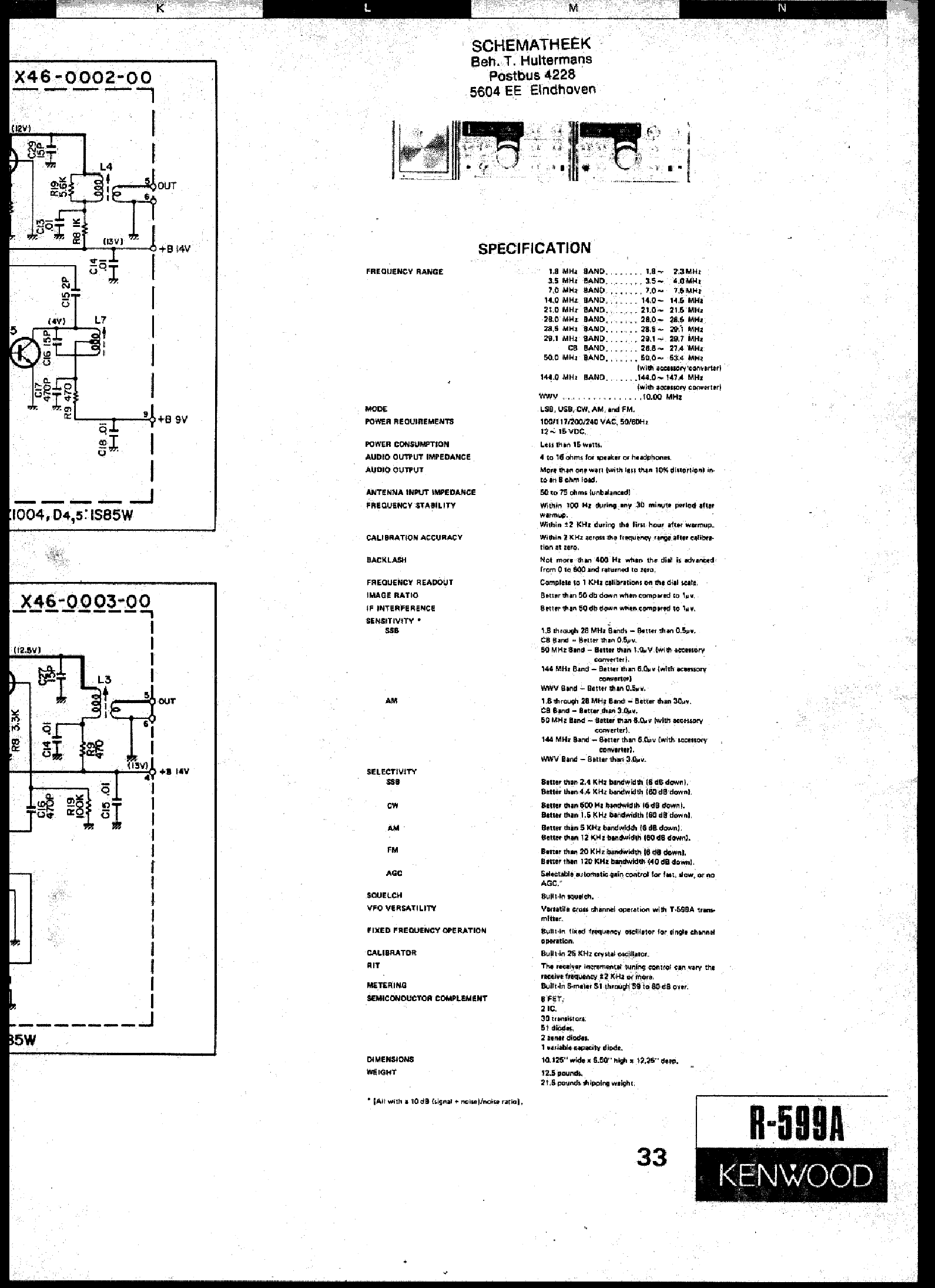 KENWOOD R-599A SCH service manual (1st page)
