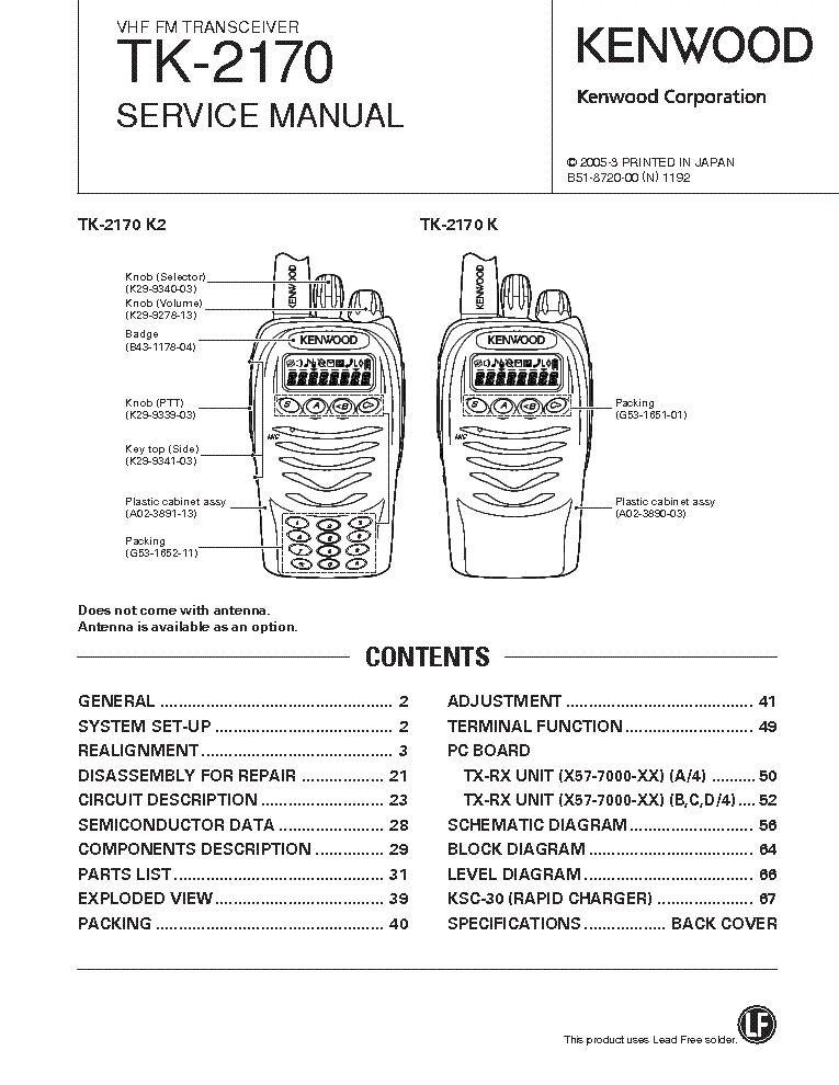 Kenwood tk 2170 инструкция
