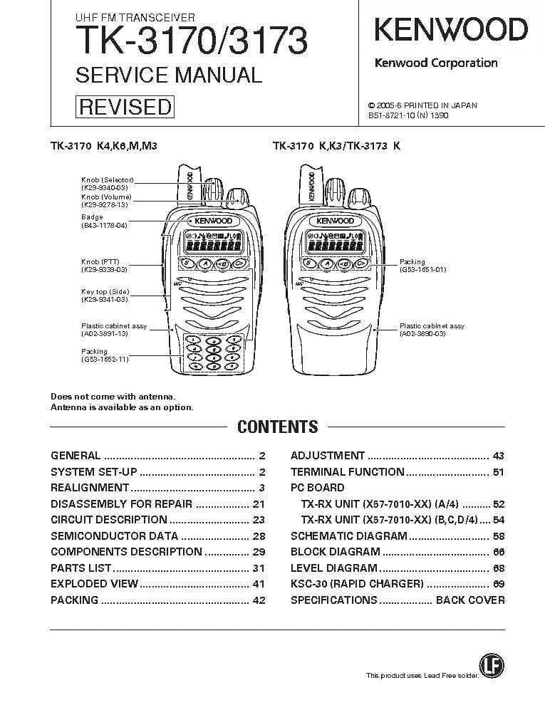 Инструкцию на kenwood tk-2170