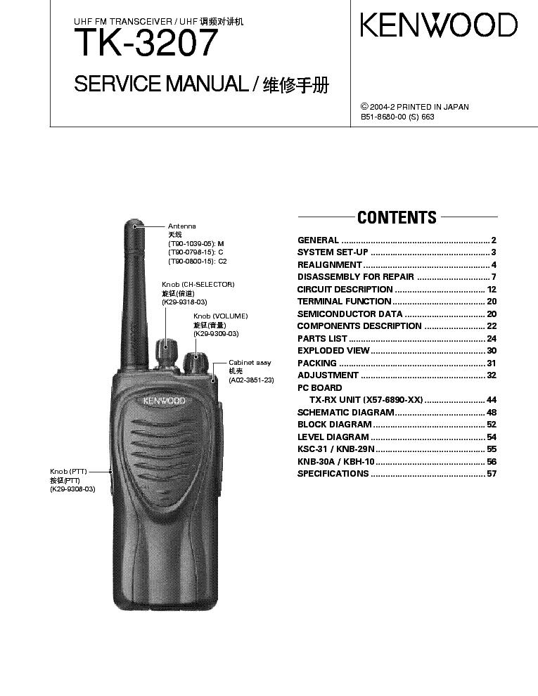 kenwood tk 3207 service manual download schematics eeprom repair rh elektrotanya com manual radio kenwood manual radio kenwood kdc-bt742u
