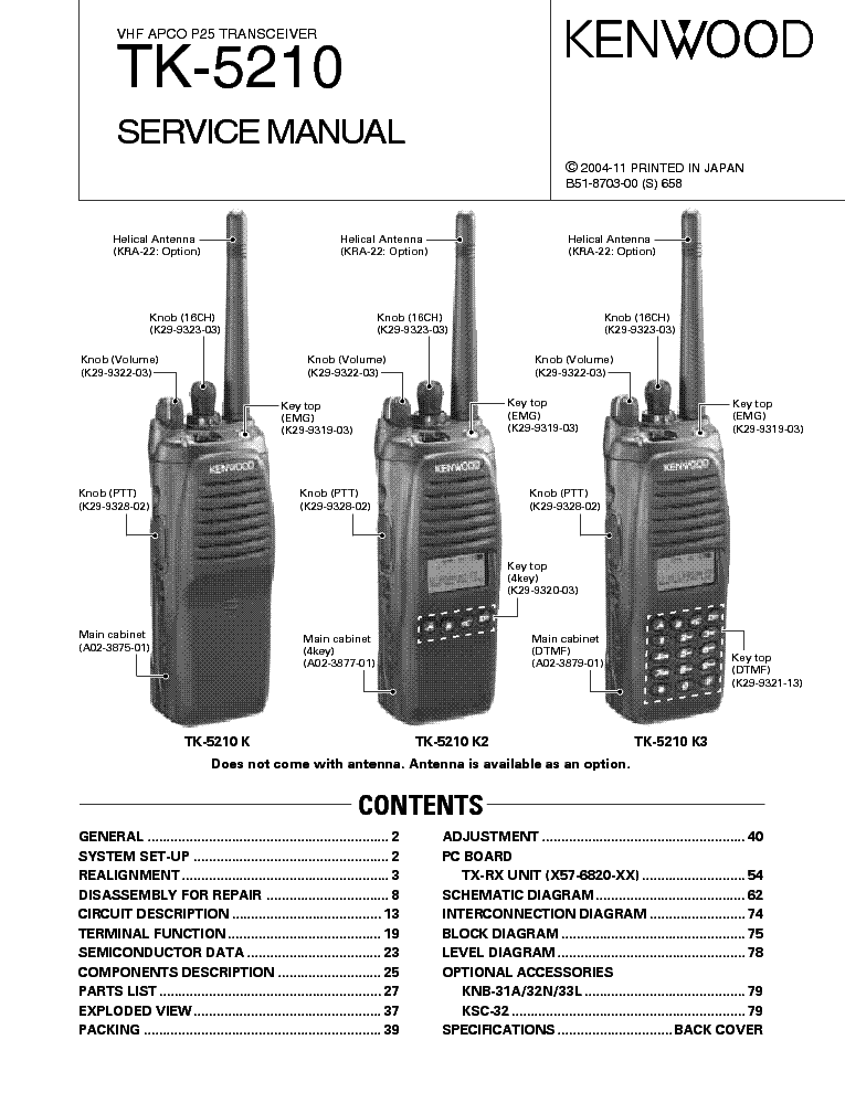 Tk 630 Kenwood manual
