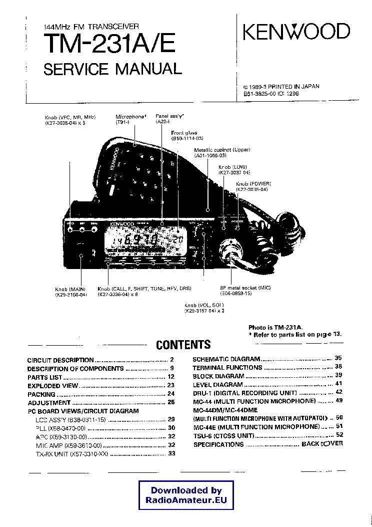 Kenwood tm v71a service manual