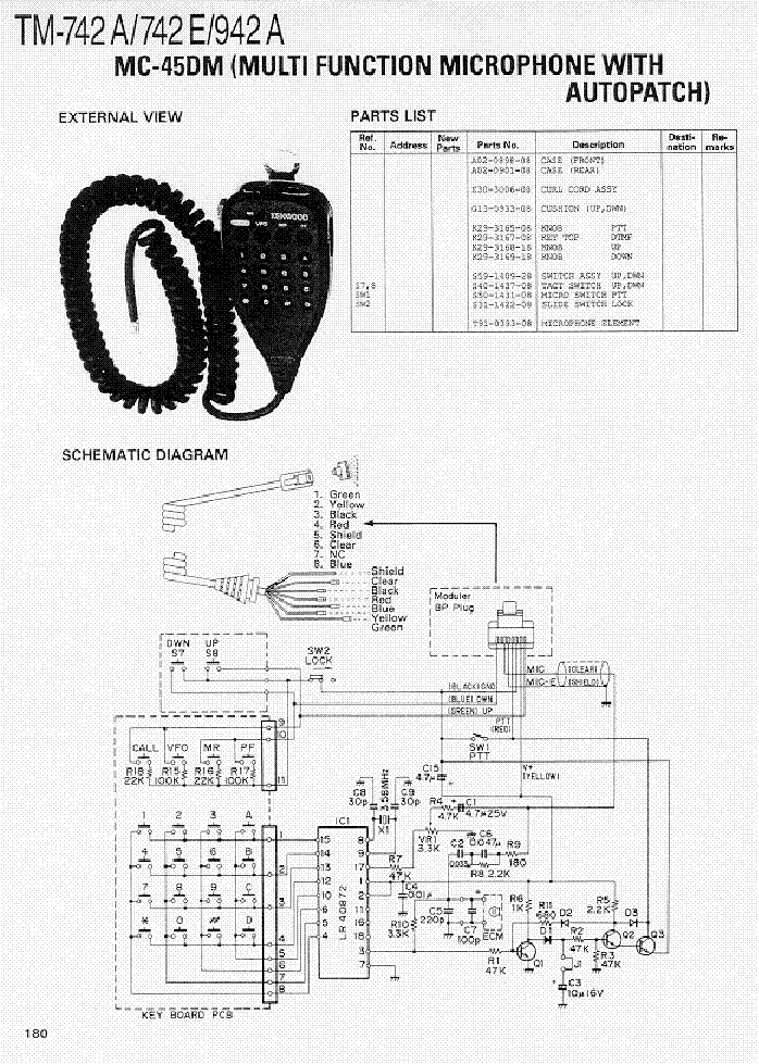 Kenwood Mc 42s Mic Wiring Diagram - 2006 Ford F650 Wiring Diagram for Wiring  Diagram Schematics Wiring Diagram Schematics