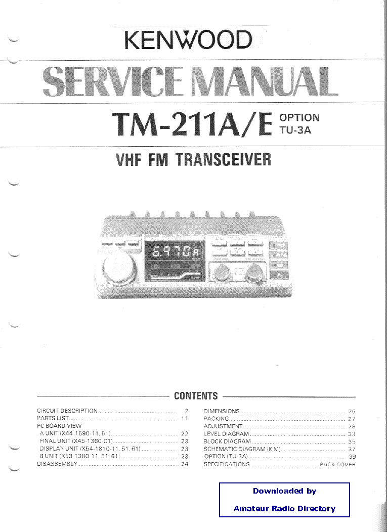 kenwood tm211 service manual download schematics eeprom repair