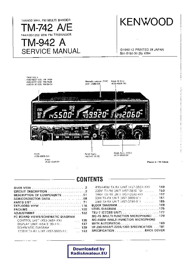 KENWOOD TM742 TM942