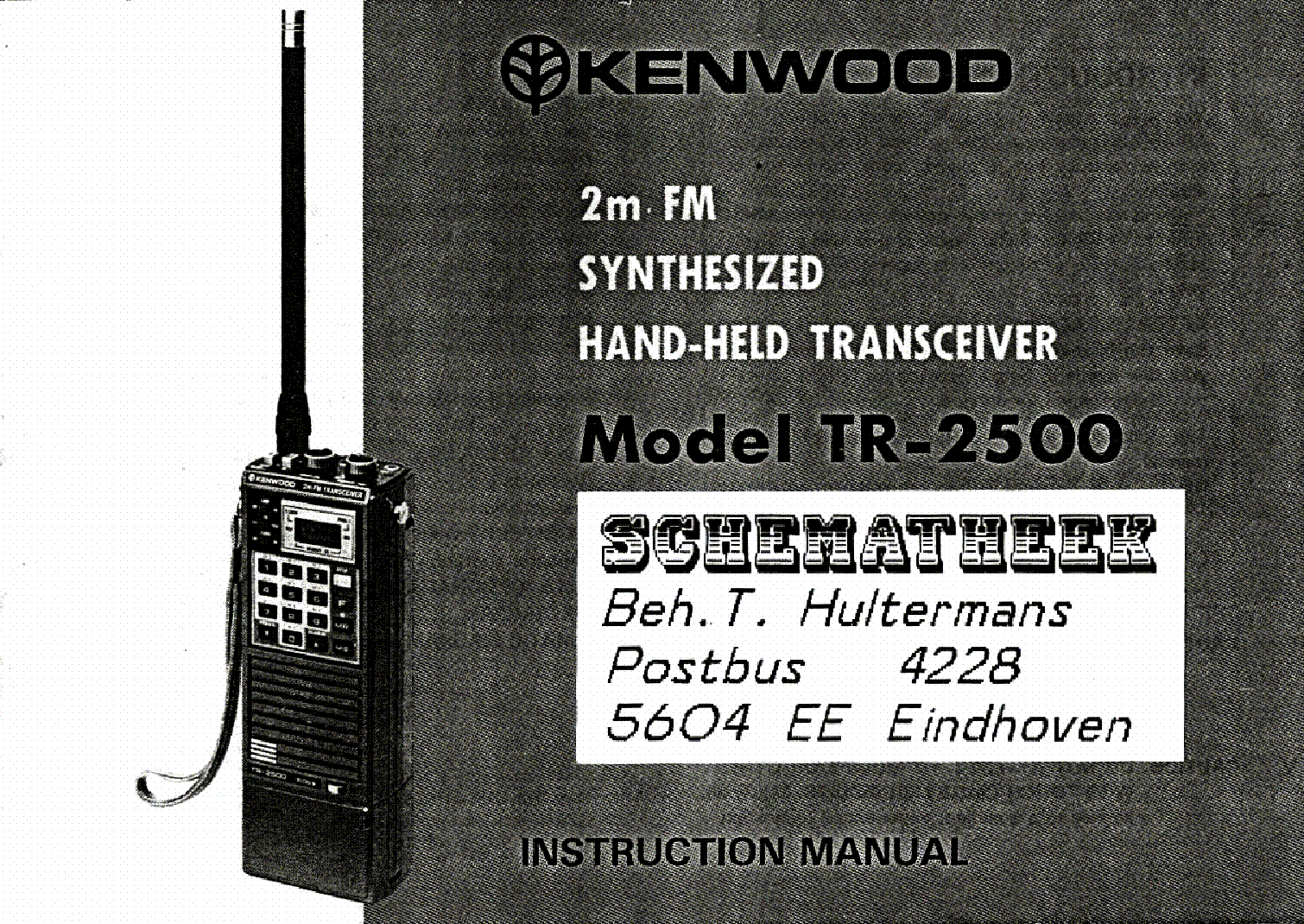 KENWOOD TR-2500 service manual (1st page)