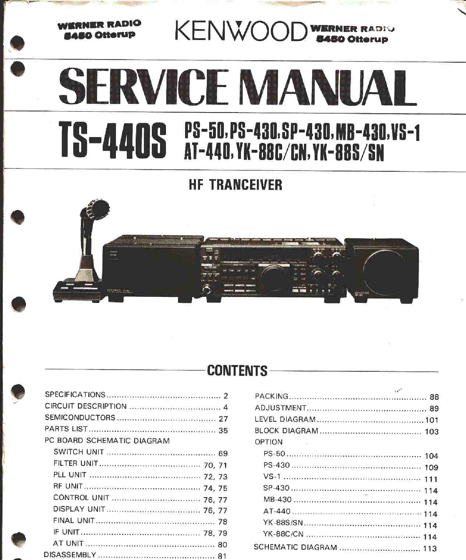 KENWOOD TS-440S service manual