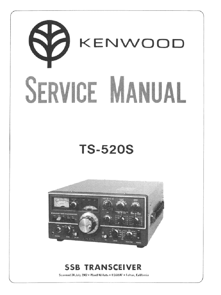 KENWOOD TS-520S service manual (1st page)
