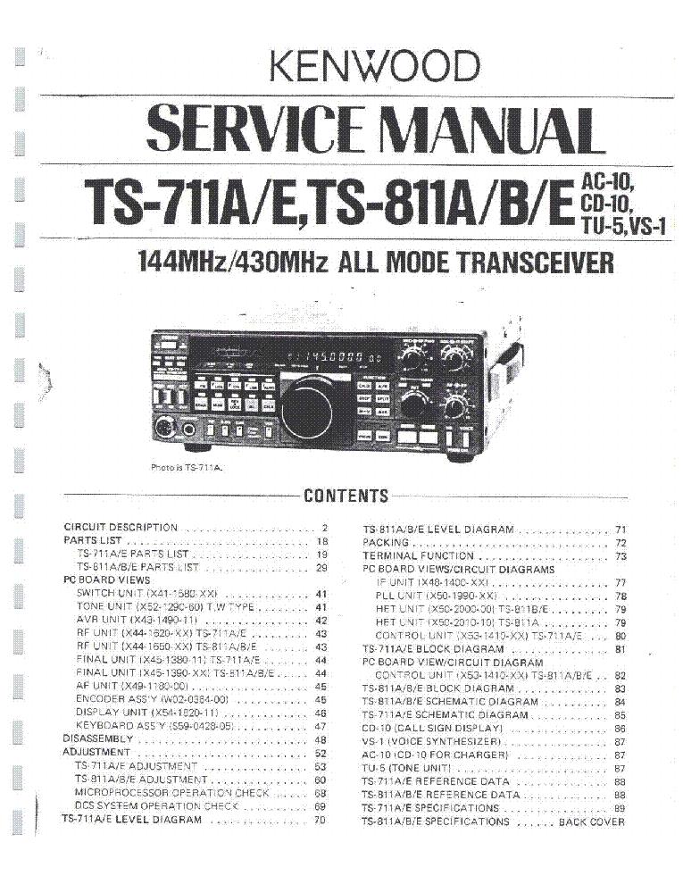 kenwood ts 711 ts 811 sm service manual download