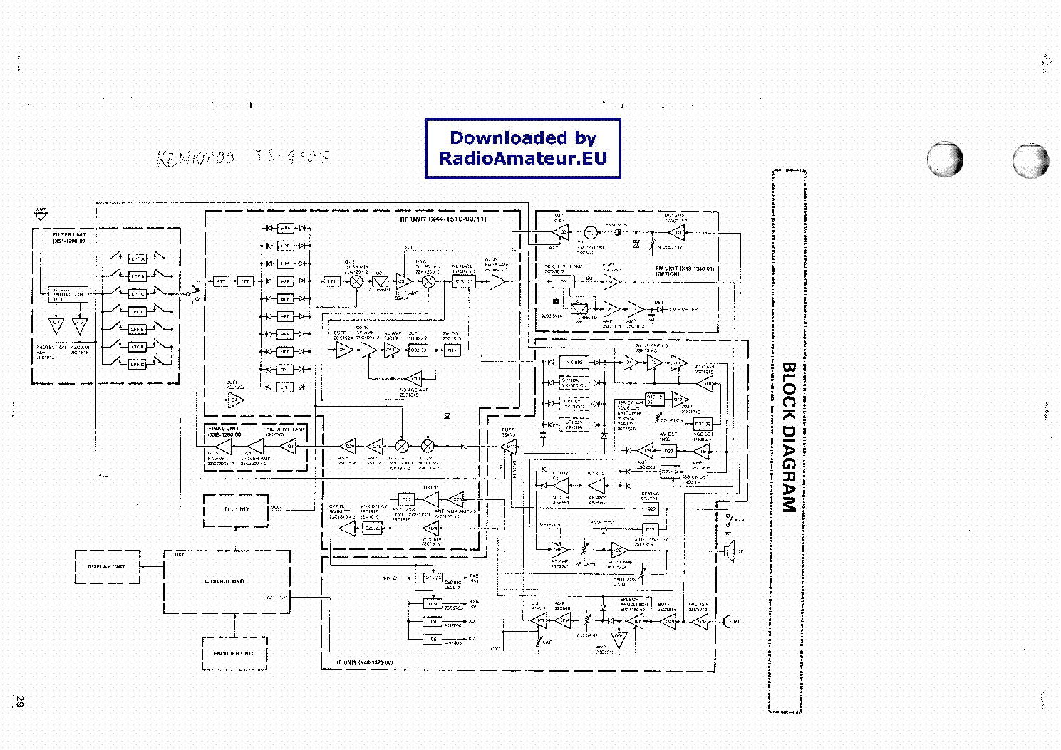 Kenwood Ts430s Service Manual Download Schematics Eeprom Repair Wiring Diagram 1st Page