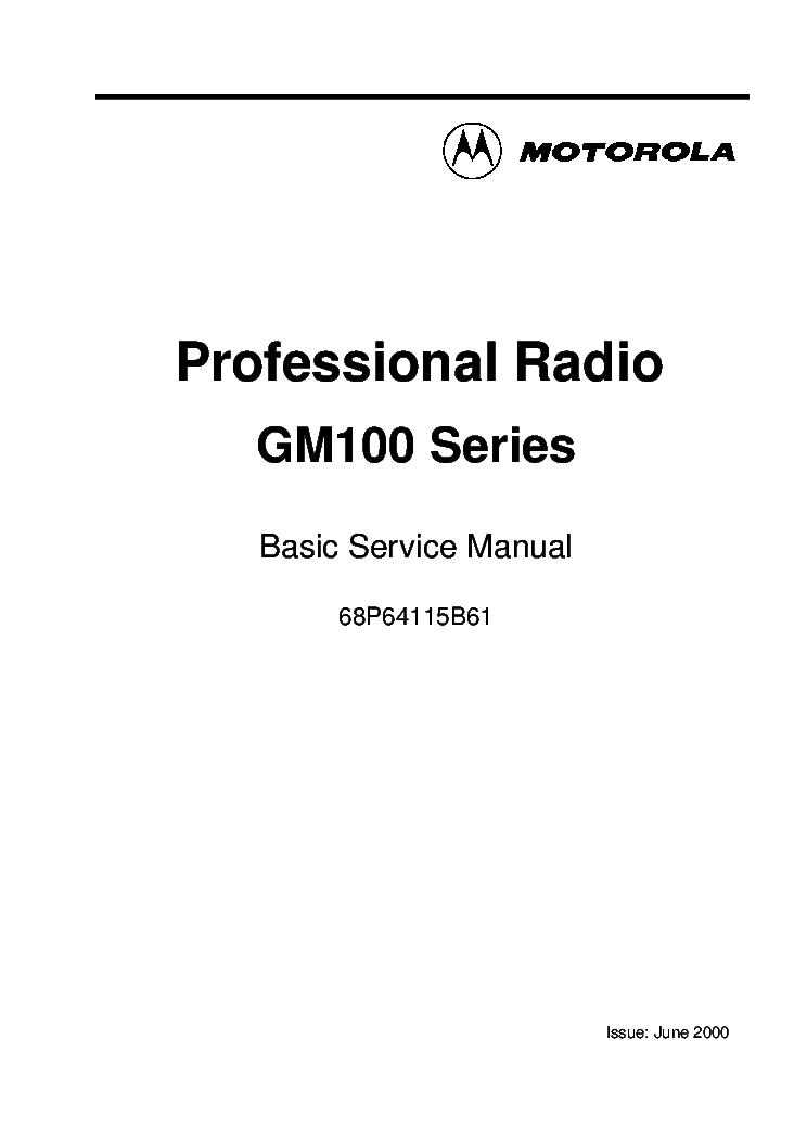 MOTOROLA GM350 SCH Service Manual download, schematics