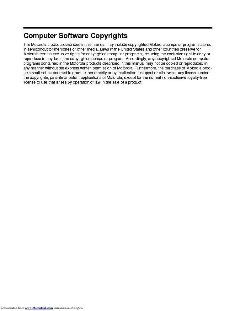 MOTOROLA GM338 GM398 SM Service Manual download, schematics