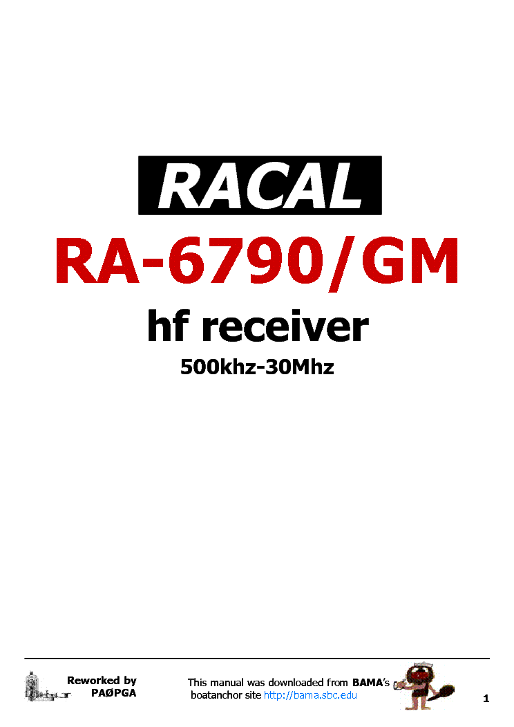 RACAL RA-6790GM RECEIVER Service Manual download, schematics, eeprom on