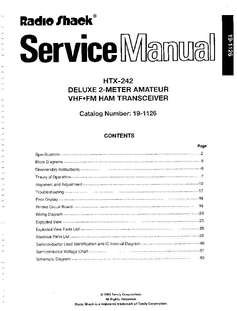 RADIO-SHACK HTX-242 SM service manual