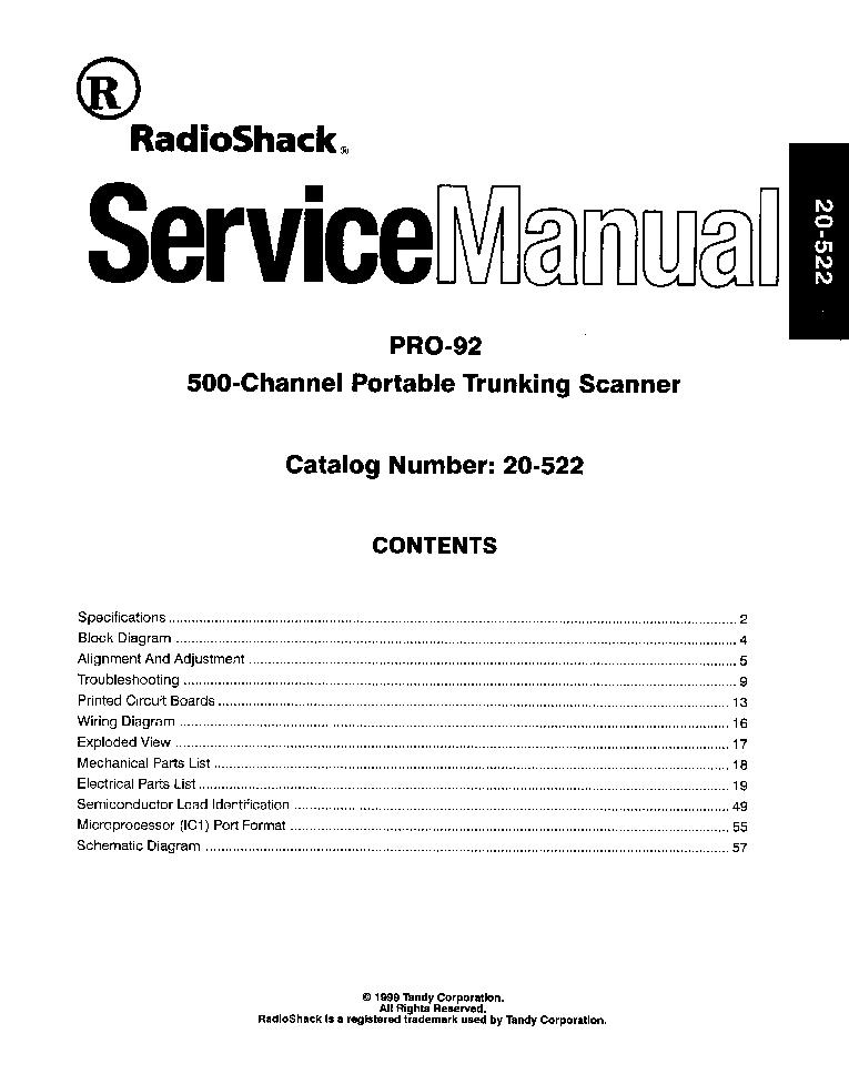 radioshack pro 92 sm service manual download schematics eeprom rh elektrotanya com radio shack service manuals pdf radio shack service manual 32-2054