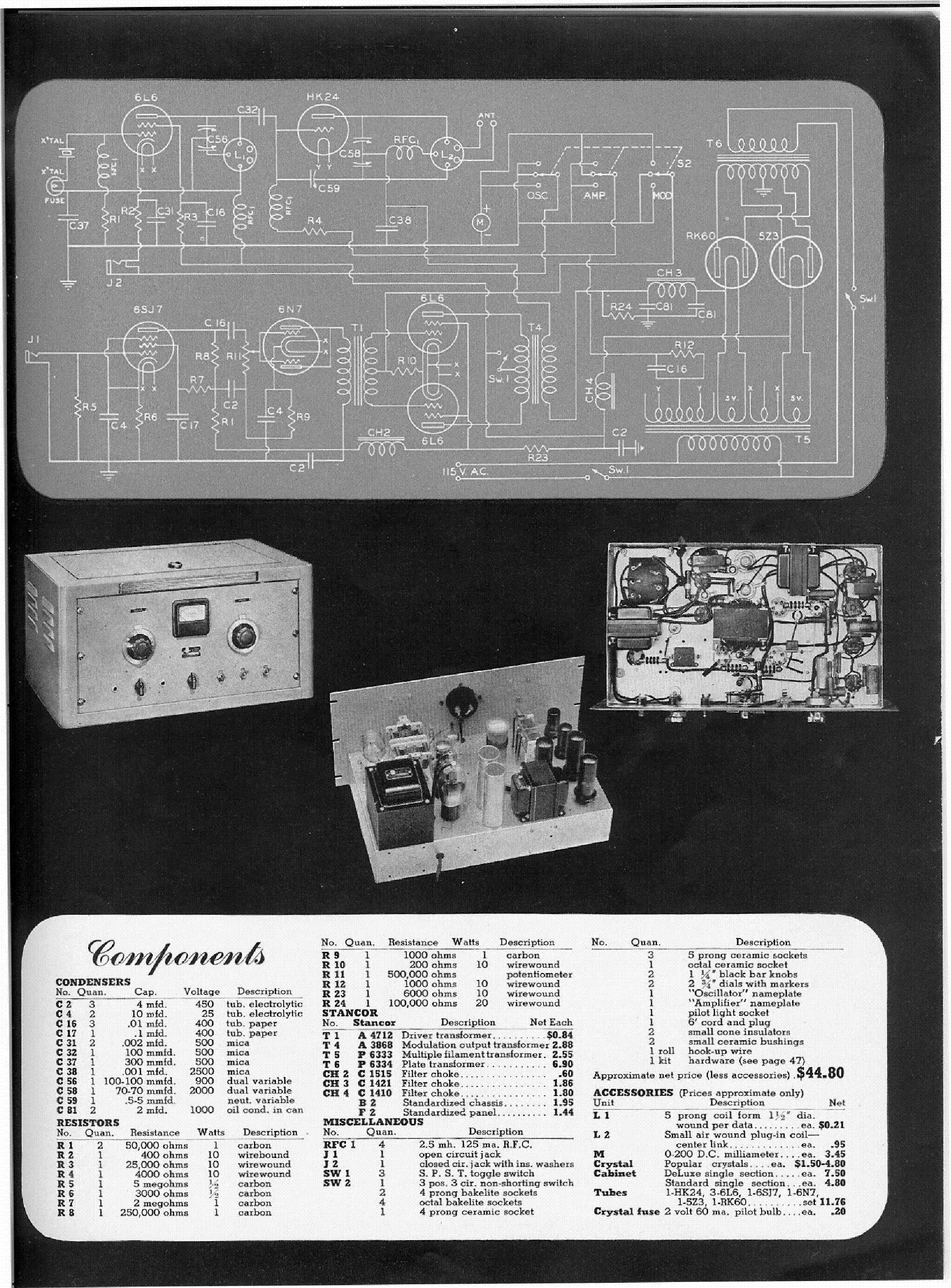 Stancor St 202a Radio Transmitter Kit Service Manual