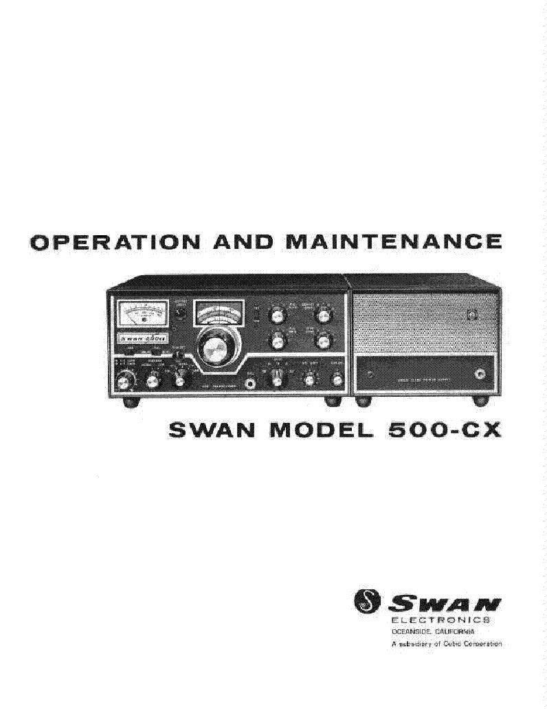 swan 500 cx trcvr service manual download schematics eeprom rh elektrotanya com Swan 500Cx Transceiver Swan 700Cx
