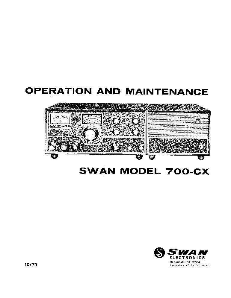 swan 700cx transceiver service manual download schematics eeprom rh elektrotanya com Swan 500Cx Rear Swan 700Cx